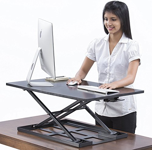 Black Table Jack Table Top Sit Stand Up Desk Riser 32 X 22 Inch