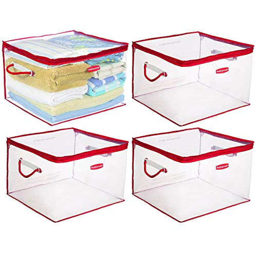 Rubbermaid 4 Pack Flex Plastic Storage Containers With