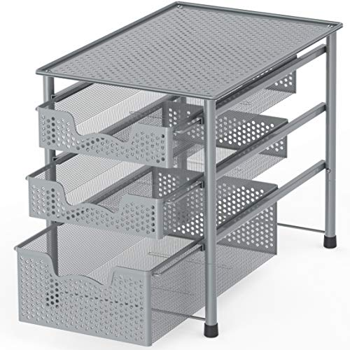Fine Simple Houseware Stackable Under Sink Cabinet Sliding Basket Download Free Architecture Designs Scobabritishbridgeorg