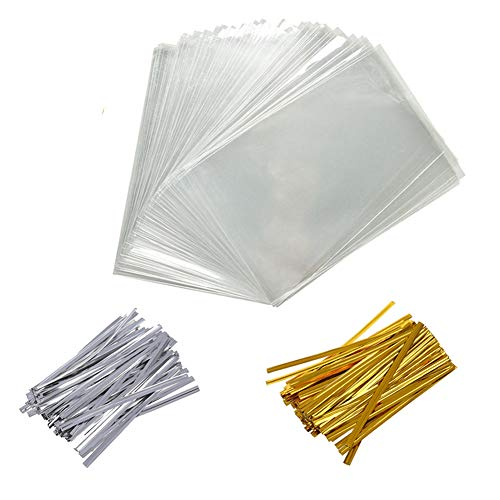 400 PCS 4X6 Inch Cellophane Treat Bags Christmas Gift Bag