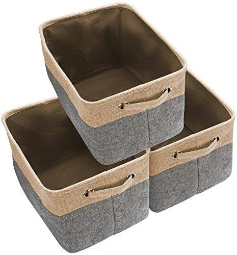 Large Navy Fabric Storage Basket Bin 3